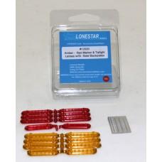 12020 - Marker & Tail Light Lens w/Stainless Steel Frames