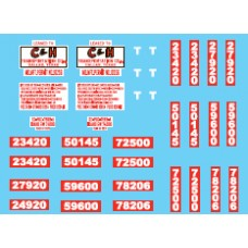 12023 - Decal Set - C&H Transportation, Owner-Operator Truck Tractors & Lessor Flatbed Trailers