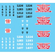 12024 - Decal Set - Hill & Hill Truck Lines, Owner-Operator Truck Tractors & Lessor Flatbed Trailers