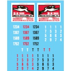 12025 - Decal Set - Melton Truck Lines, Owner-Operator Truck Tractors & Lessor Flatbed Trailers