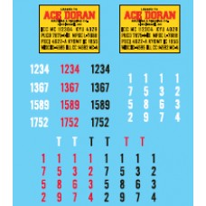 12028 - Decal Set - Ace Doran, Owner-Operator Truck Tractors & Lessor Flatbed Trailers