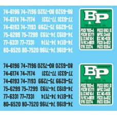 12030 - Decal Set - B&P Motor Express, Owner-Operator Truck Tractors & Lessor Flatbed Trailers
