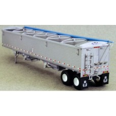 6004 - Wilson Pacesetter 43' Grain Trailer Kit  - Silver Body / Dark Blue Tarp