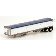 6005 - Wilson Pacesetter 43' Grain Trailer Kit - Pre-painted White Body / Dark Blue Tarp