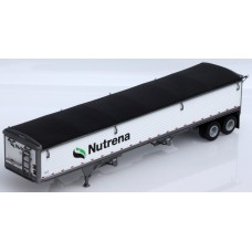 6019 - Wilson Pacesetter 43' Grain Trailer Kit - Pre-painted White Body / Black Tarp, Nutrena Decals