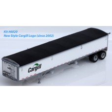 6020 - Wilson Pacesetter 43' Grain Trailer Kit - Pre-painted White Body / Black Tarp, Cargill Decals