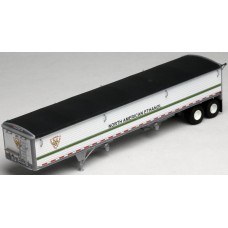 6021 - Wilson Pacesetter 43' Grain Trailer Kit - Pre-painted White Body / Black Tarp, North American Ethanol