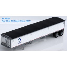 6023 - Wilson Pacesetter 43' Grain Trailer Kit - Pre-painted White Body / Black Tarp, ADM Decals