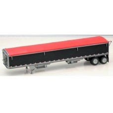6030 - Wilson Pacesetter 43' Grain Trailer Kit - Pre-painted Black Body / Red Tarp