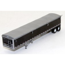 6031 - Wilson Pacesetter 43' Grain Trailer Kit - Pre-painted Black Body / Silver Tarp