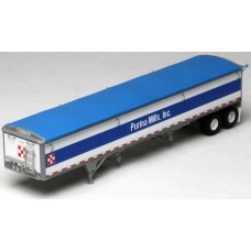 6034 - Wilson Pacesetter 43' Grain Trailer Kit - Pre-painted White Body / Blue Tarp, Purina Mills