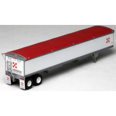 6035 - Wilson Pacesetter 43' Grain Trailer Kit - Pre-painted White Body / Red Tarp, Purina Mills Decals