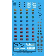 12046 - Decal Set - Bobcat Skid Steer Loader (Will Decorate 4 Machines)